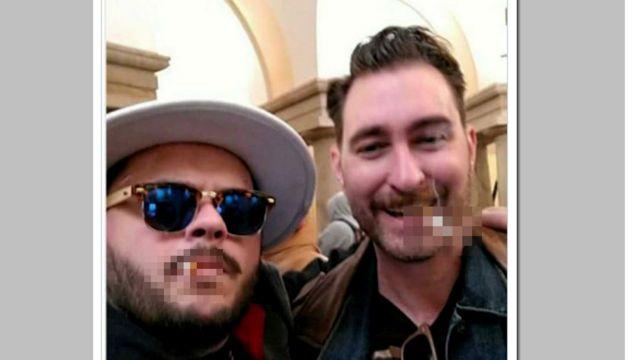 Селфи правых активистов в здании Капитолия