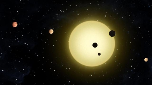 Planetas a contraluz de una estrella