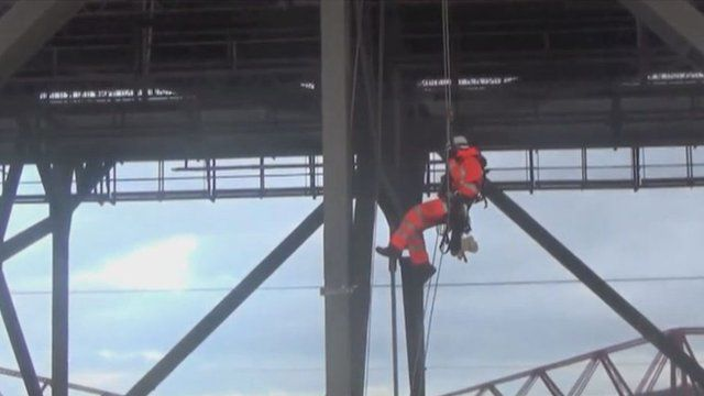 Engineer working at the Forth Road Bridge