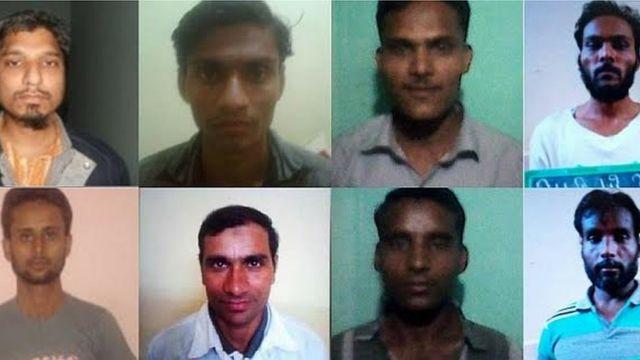 सिमी से जुड़े कैदी (पुलिस द्वारा जारी फोटो)