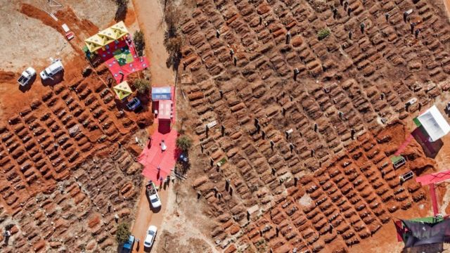 Enterramientos en Sudáfrica durane este pasado verano.