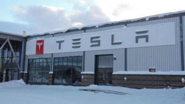Sala de exhibición de Tesla