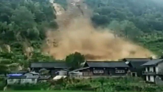 Village in China hit by landslide