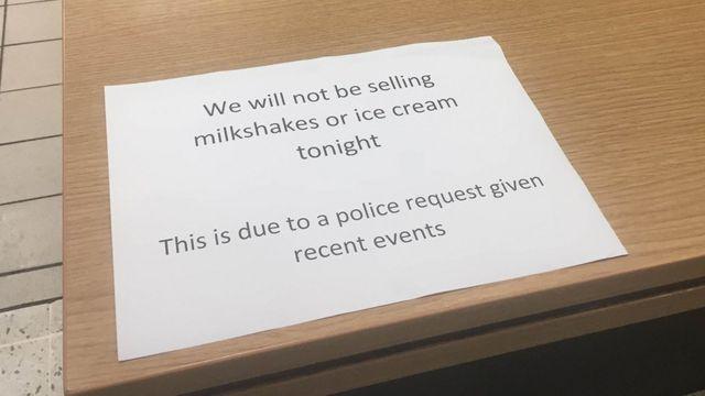Ice cream ban near Farage Edinburgh campaign rally