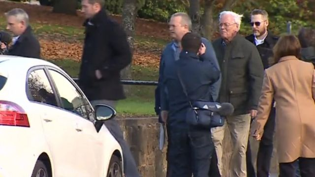 Gordon Anglesea arrives at court