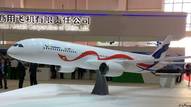 نموذج لطائرة الركاب ذات البدن الواسع التي تنوي الصين وروسيا التعاون في انتاجها