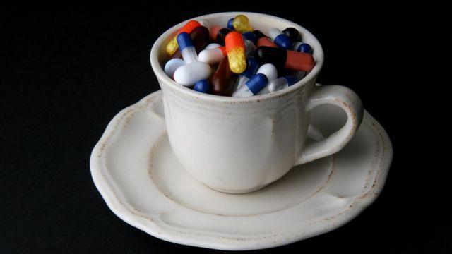 Taza de pastillas