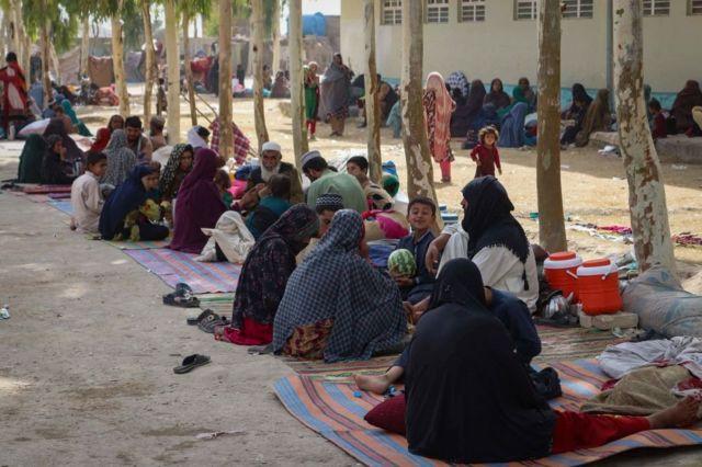 Лагерь для перемещенных лиц в провинции Кандагар