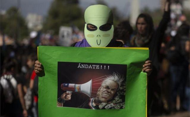 चिली में विरोध प्रदर्शन