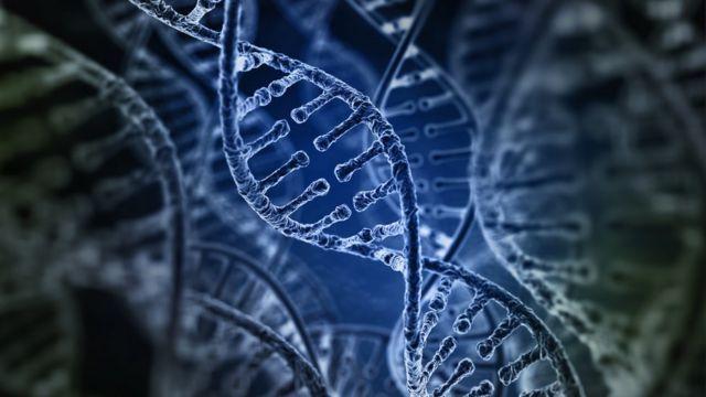 Ilustración de secuencia genética