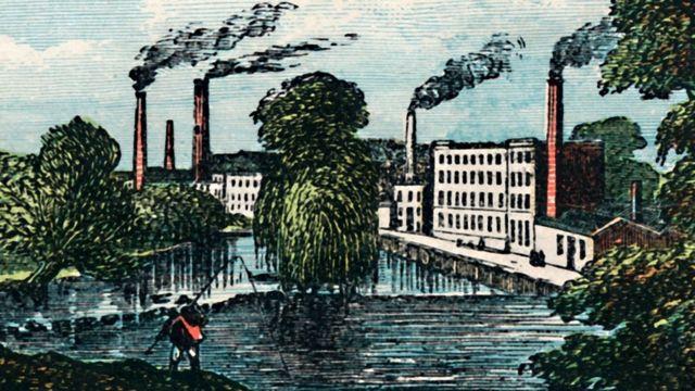 Lombe's silk mill in Derby