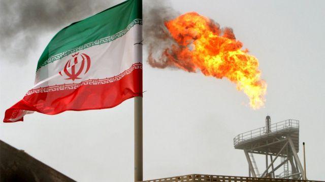 شعلة غاز في حقل ايراني