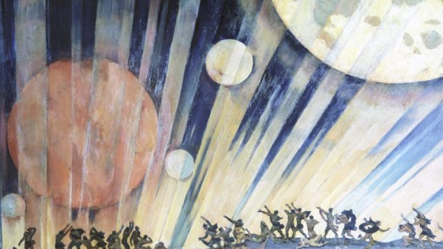 """картина константина юона """"новая планета"""""""