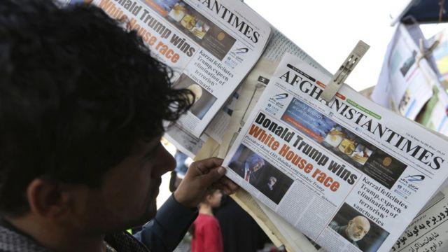 تصویری از یک روزنامه در کابل
