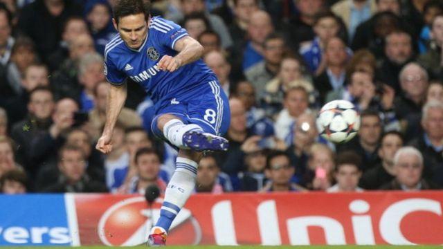Frank Lampard, vainqueur de la ligue des champions avec Chelsea en 2012 souhaite revenir au club