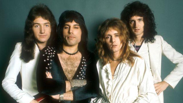 1970년대 초 밴드 퀸의 모습