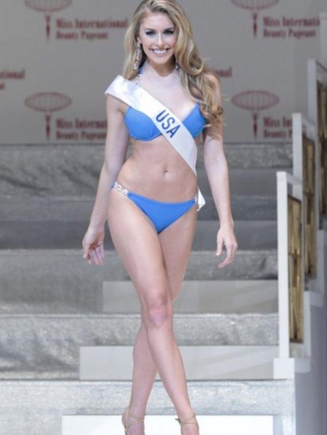 ملكة جمال أمريكا كاتيارانا راينباخ وجاءت في المركز الخامس في المسابقة