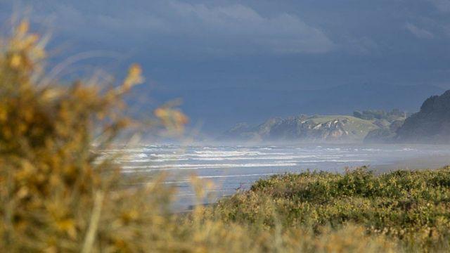 Ohope Beach, en Whakatane, en la Isla norte de Nueva Zelanda