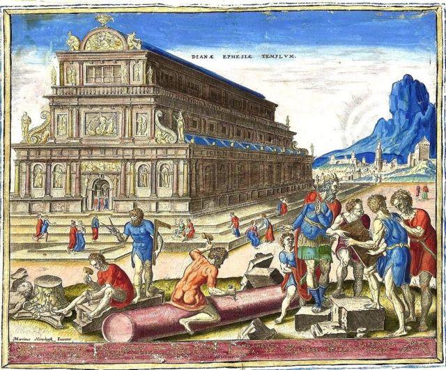 Templo de Ártemis em ilustração do século 16