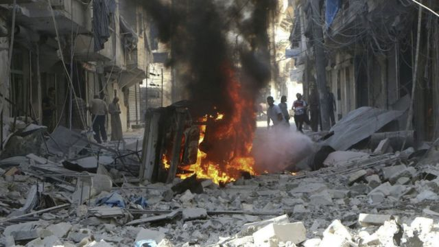 सीरिया में जारी गृह युद्ध