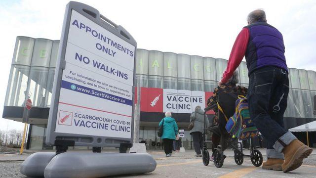 Vaccination Center in Ontario, Canada