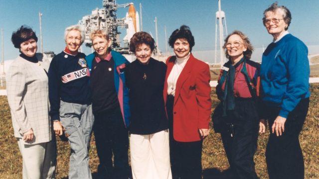 Seven members of the Mercury 13
