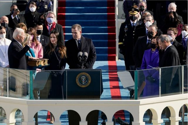 Joe Biden is sworn in as the 46th US President