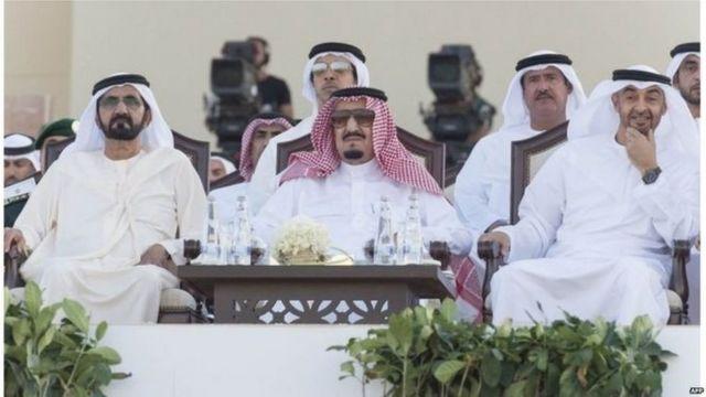 الملك السعودي وحاكم دولة الإمارات