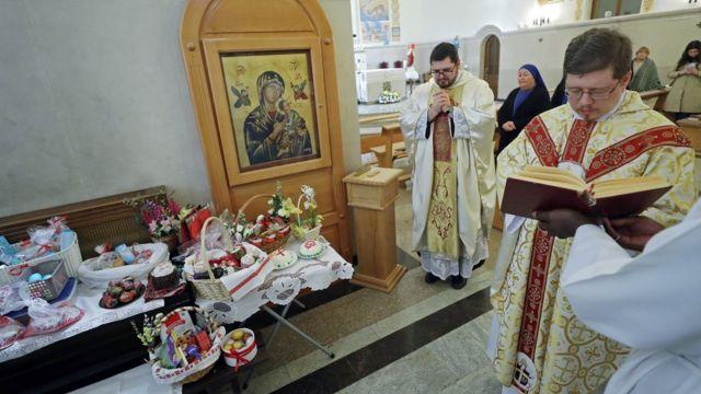 Католическая месса в храме Казани