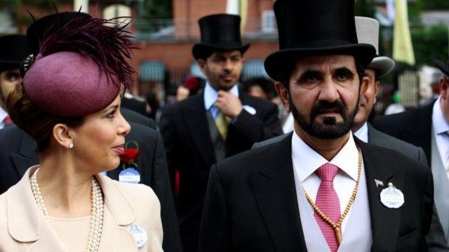 الشيخ محمد وزوجته السابقة الأميرة هيا