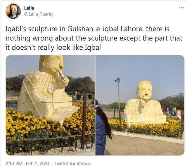 علامہ اقبال کا مجسمہ