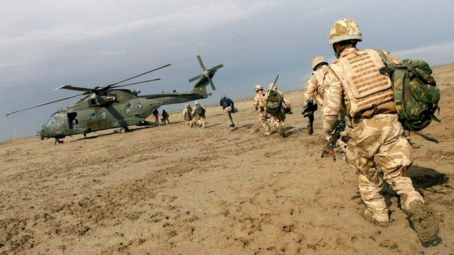 Undated file photo of British soldiers in Iraq