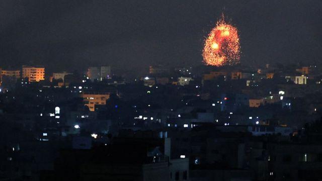 غارة جوية إسرائيلية على منطقة شمال قطاع غزة