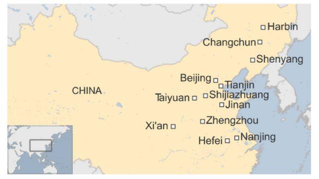 中国北東部の主要都市