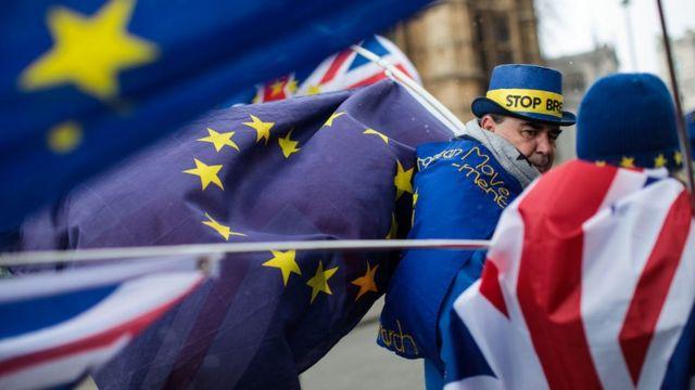 Сторонники ЕС на демонстрации у парламента Британии