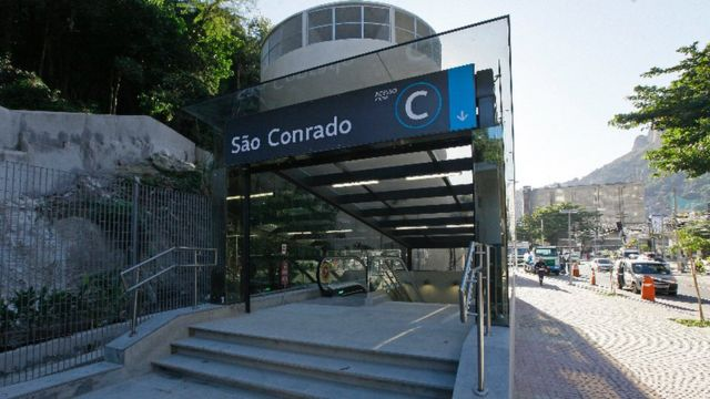 Estación de metro nueva en Sao Conrado y Rocinha