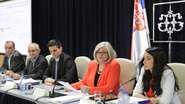 Jorgovanka Tabaković (u crvenom sakou), NBS,