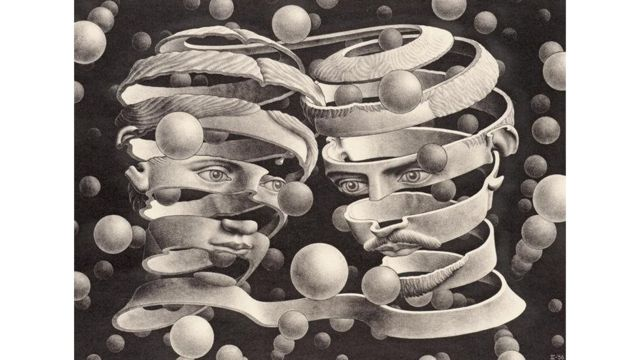 MC Escher'in 'Bond of Union'