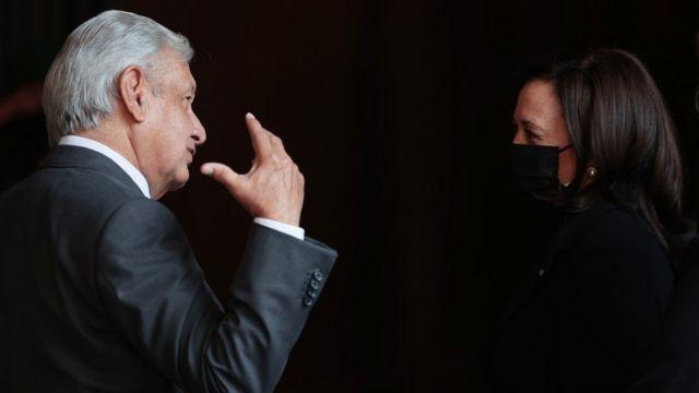 Andrés Manuel López Obrador and Kamala Harris