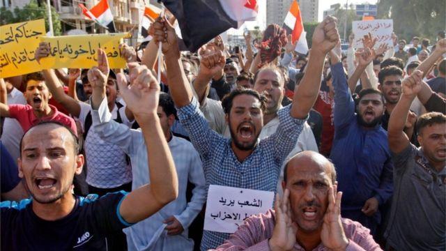 احتجاجات في النجف