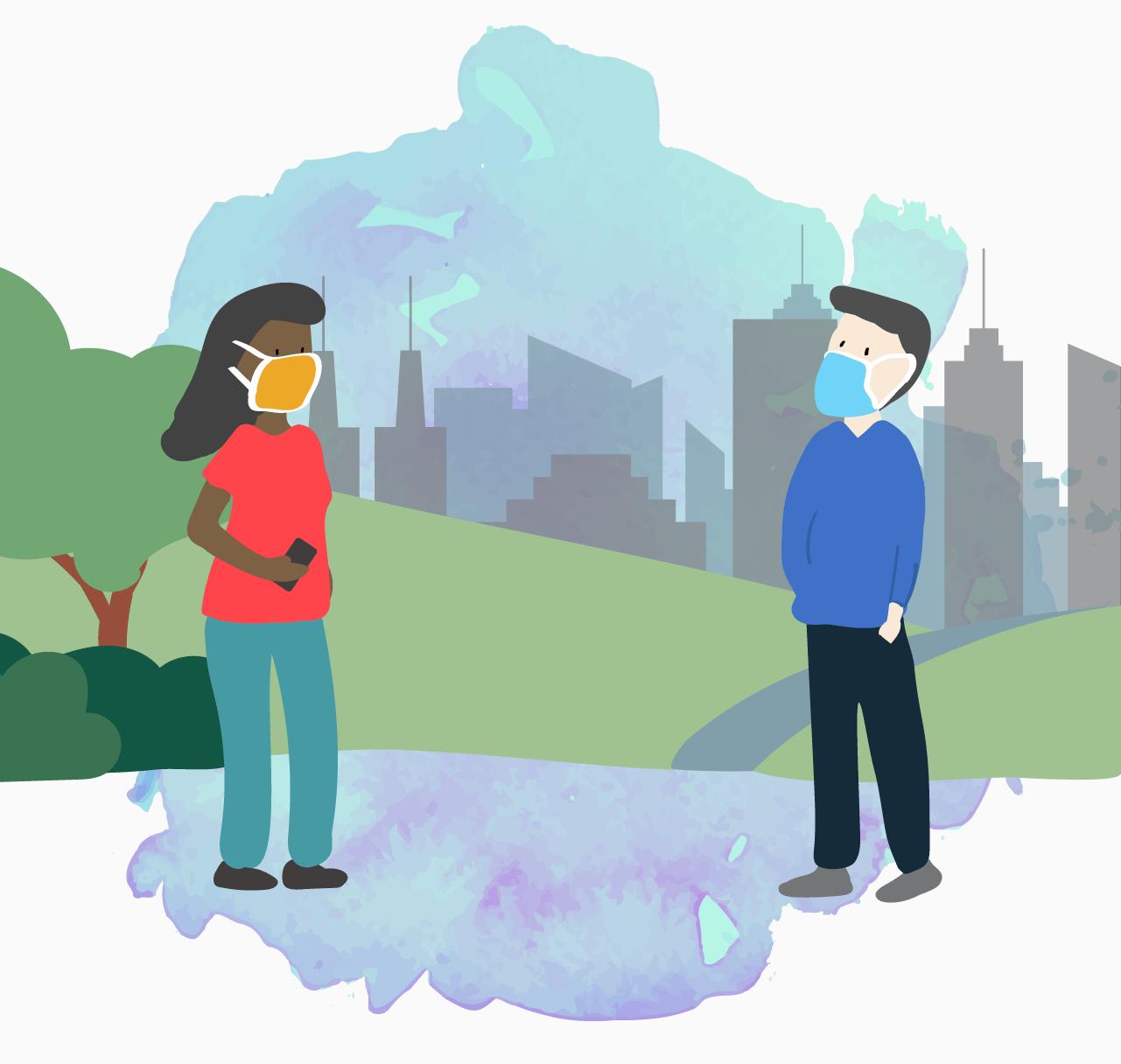 Se possível, tente se conectar de alguma maneira com amigos, familiares, vizinhos, e todas as pessoas com as quais você se sente bem