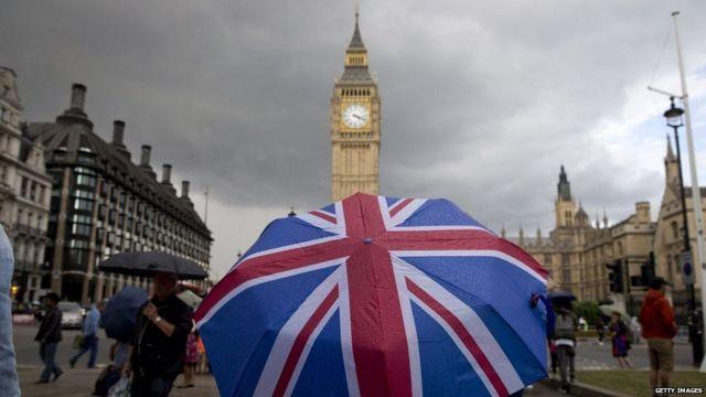 Big Ben y bandera