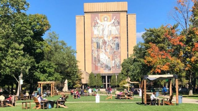 Notre Dame University in South Bend.