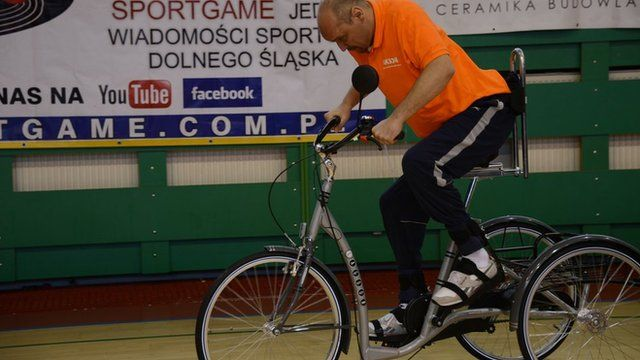 Darek Fidyka is learning to cycle and walk again