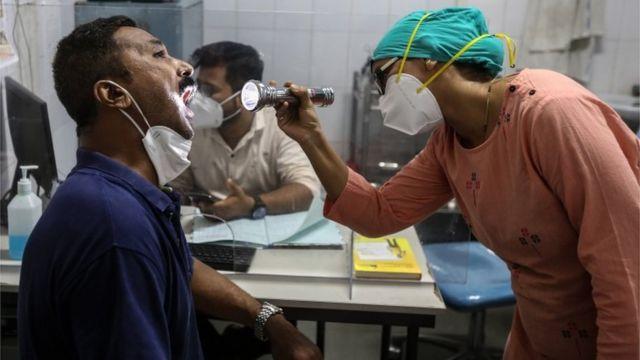 Un paciente de mucormicosis en India