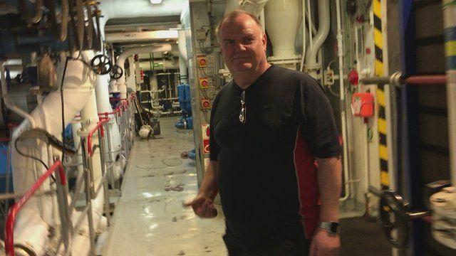 Harry Hall, senior engineer on the Stena Superfast X