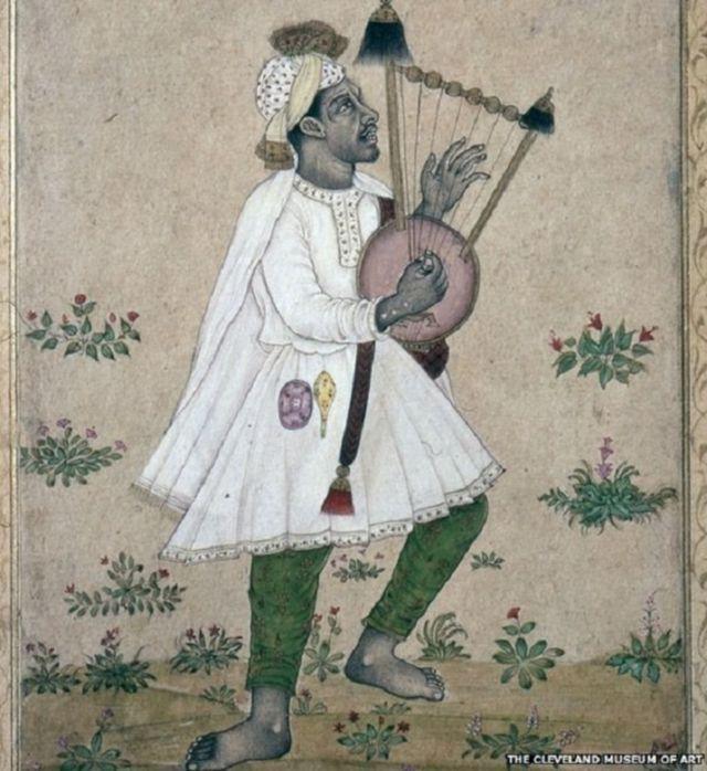 લાઈર નામનું વાદ્યયંત્ર વગાડી રહેલા એક આફ્રિકનની આ તસવીર 1640થી 1660ની છે