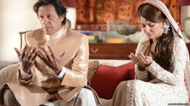 इमरान खान और उनकी दूसरी पत्नी रेहाम खान