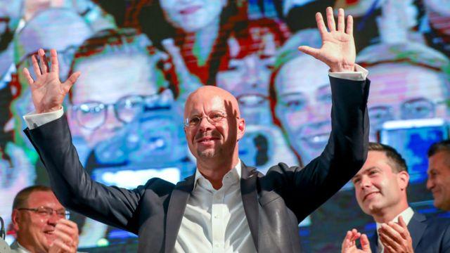 """أندرياس كالبيتز (46 عاماً)، هو قائد حزب """"البديل من أجل ألمانيا"""" في براندنبورغ"""