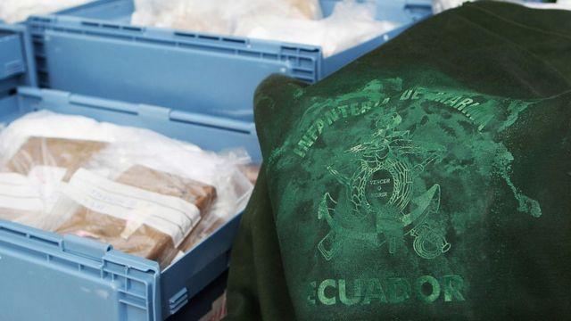 Cocaína procedente de Ecuador confiscada en el puerto de Hamburgo en 2011.
